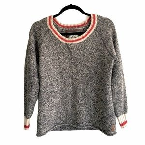 ROOTS Cabin Sweater Wool Crew Neck Long Sleeves S